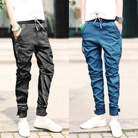 Wholesale Fashion Mens Womens Casual Harem pants Hiphop Jogger Drawstring Tapered Drop Crotch Trousers Slim Fit Pants