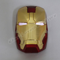 animation laptops - Animation Cartoon Cool Iron Man Glowing Eyes Wireless USB Mouse For Laptop PC Computer amp Mac
