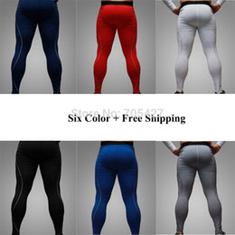 Wholesale-Hot Fashion Mens Skin Tight Leggings ,Baselayer Leggings ,Workout Gym Fitness Sports Pants Free Shipping