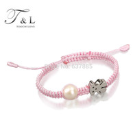 bear gift ideas - Natural real freshwater Pearl with Stainless steel bear Bracelet children and kids bracelet kids gift idea