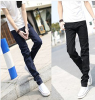 Cheap Wholesale-NEW ARRIVAL 2015 SUMMER KOREAN STYLE SKINNY THINNESS BREATHABLE LOW RISE MEN PENCIL PANTS JEANS