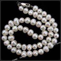 Wholesale Round Natural Genuine Freshwater Pearl Bead x7x7mm