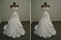 Wholesale White Ivory Wedding Dress Custom Sz