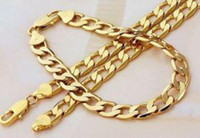 Wholesale men s K yellow gold GP necklace inch bracelet sets