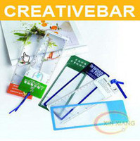 Wholesale CREATIVEBAR Magnifie Bookmark with Ruler markings Card Magnifier PVC Magnifier Promotion Gifts