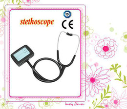 Wholesale CE Approved Multi function Visual Electric Stethoscope SPO2 Probe Support Fast Drop Shipping