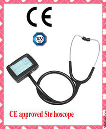 Wholesale CE Approved Multi function Visual Electric Stethoscope free SPO2 Probe