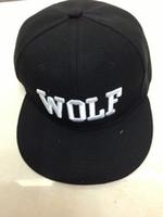 Cheap Wholesale-Exo team cap wolf hiphop hip-hop cap baseball cap skateboard cap fashion snapback hats for girls women man men for winter