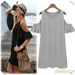 Wholesale Hot sale fashion Woman Clothes Batwing Sleeve Cotton Cute Strapless Dress Plus Size Novelty T Shirt Dress Summer Dress