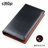 big book holder - Citiup senior big capacity commercial business Card Holder Women high quality leather business card book