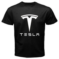 Cheap Wholesale-Tesla Motors Electric Model S Roadster Car T Shirt MEN T-SHIRT Rare TSHIRT