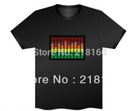 led shirt - Mens LED T Shirt LED Panels Velcros U Choose Custom EL T Shirt Sound Activated flashing Party Supplies1set
