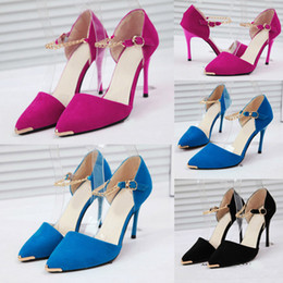 Wholesale-HO082 New 2015 Spring Summer Women Fashion Sexy Pointed Toe Pumps High Heels Shoes Ladies Pumps Party Dress Shoes Pumps