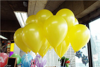Wholesale g Latex Helium Inflatable Pearl Yellow Balloons Inch Wedding Decorations ball metallic baloon