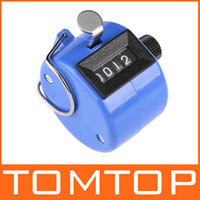 Wholesale Tally counter clicker golf handheld manual digit number blue H1773BL