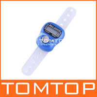 Wholesale Ring Tally Counter LCD electronic digital digit golf blue H1774