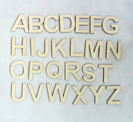 Wholesale letters Wooden Alphabet Letter Set Unfinished Rustic Wood Letters A Z CT1104