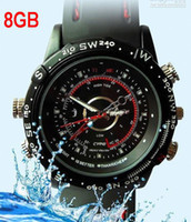 Wholesale 8GB CCTV Waterproof HD Spy Watch Camera DVR Record M Pixles black