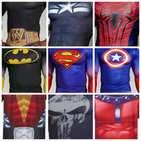 army clothings - ALTER EGO COMPRESSION SHIRTS SUPERMAN BATMAN X MEN PUNISHER TEAM CAPTAIN AMERICA Iron Man D PRINT COMPRESSED GYM CLOTHINGS