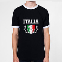 shirts for men italian - Vintage Italian Flag For Football World Cup Can Be Customed Pure Cotton Men s Ringer T Shirt