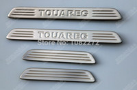 Wholesale Car Door Sill Scuff Plate Guards Sills Trim for VW TOUAREG
