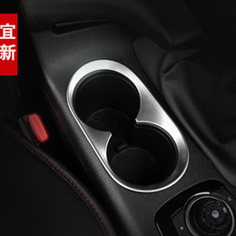 Wholesale-FIT FOR 2015 2015 MAZDA 3 AXELA CHROME CUP HOLDER FRAME PANEL COVER TRIM CENTER CONSOLE GARNISH