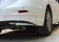 Cheap Wholesale-Auto rear bumper trim, tail bumper sticker for mazda 3 2015 axela, abs chrome,auto accessories,free shipping.4pcs