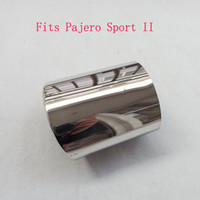 auto exhaust free - For Mitsubishi Pajero Sport II Stainless steel exhaust pipe tail pipe muffler auto accessories