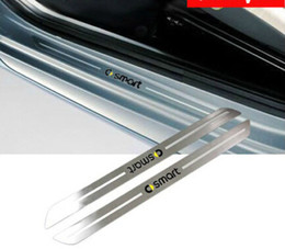 Wholesale Stainless Car Scuff plate Door sill Guards For MERCEDES BENZ SMART FORTWO
