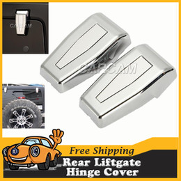 Wholesale For Jeep Wrangler Chrome Rear Lift Gate Hinge Covers Car Rear Window Hinges JK