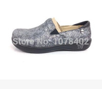 alegria shoes - Alegria first layer of cowhide leather stencilling casual shoes flat foot wrapping plus size shoes