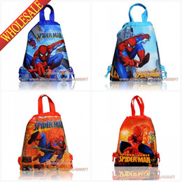 Discount Spiderman Drawstring Party Bags | 2017 Spiderman ...