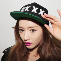 Cheap Wholesale-2015 New Fashion KKXX Stylenanda Baseball Caps Flat Brim Embroidery Sun-shading Caps Hip Hop Caps 56-60cm Hats