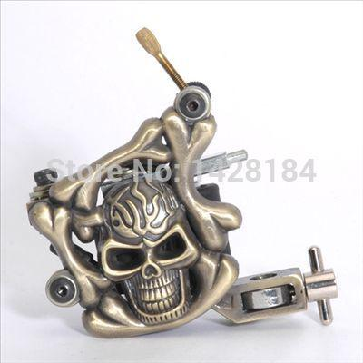Wholesale hot sell brass skull tattoo machine guns for for Cheap tattoo kits amazon