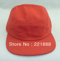 Cheap Wholesale-Wholesale 2015 style red 5 panel camp cap fashion headwear custom hats and logo snapback cap