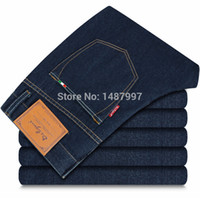 low price jeans - Lowest price designer jeans men fashion denim retail brand warm zipper fly straight cotton jeans comfortable fit trousers