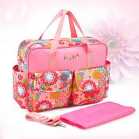 Wholesale Fashion Multifunctional Mommy Bag Diaper Bags Large Capacity Waterproof Antibacterial Baby Nappy Bag ZM0013 salebags