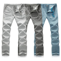 linen pants - Men Linen Pants Outdoor Sweatpants Large Size Jogger Casual Chinos Trousers xl New Design Fashion Popular Straight