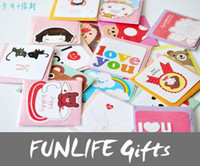 Wholesale funlife Novelty Git Happy Time styles Available mini greeating birthday card envelop set