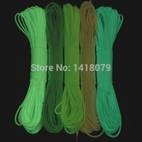 Wholesale FT Cord Strand Lb Luminous Glow in the Dark Nylon Paracord Parachute Deg For Outdoor Camping Equipment Survival