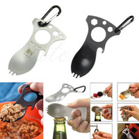Wholesale EDC Pocket Bottle Opener Spork Spoon Screwdriver Camp Survival Multitool Kit