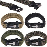 Wholesale Newest Outdoor Survival Umbrella Rope Bracelets Wristband Camping Hiking Climbing Berna