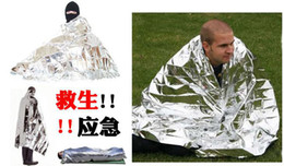 Wholesale Silver rescue blanket aluminium coating Insulation prevented bask Reflective membrane outdoor supplies M131