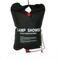 Wholesale Portable outdoor camping solar shower bag water bag L Outdoor shampoo bath shower bag