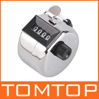 Wholesale NB chrome hand tally counter digit number clicker golf TMJS01 metal silver white