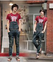 overalls for men - fashion plus size mens denim bib jeans overalls for men calcas de brim jardineiras P018