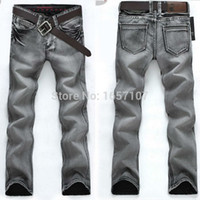 low price jeans - new grey designer jeans men jeans famous brand skinny jeans men low Factory price pants trousers
