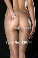 Cheap Wholesale-Ultrathin 10D t-back DY Sexy Gipsy Shiny Sheer Transparent Seamless Glossy Nylon Pantyhose Meias Hose Stocking Tights Black Nude