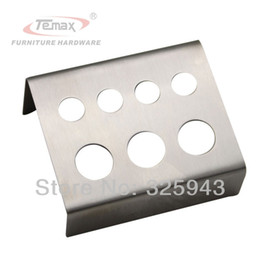 Wholesale-Tattoo And Body Art Machinery Stainless Steel Tattoos Pigment Ink Caps Cups Holder Shelf 4X10mm 3X15mm Holes