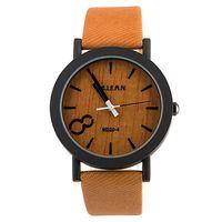 Wholesale Hot sale retro wood grain quartz watches women leather band wristwatches men casual watch relogio masculino relojes montre WQ167